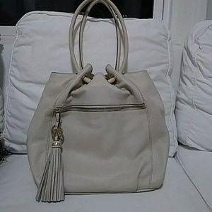 Ivory with gold Michael Kors medium size purse
